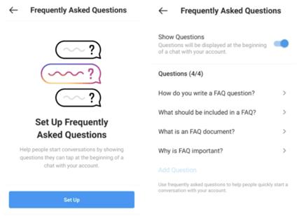 FAQ instagram exemple