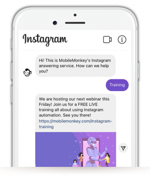 chatbot instagram exemple