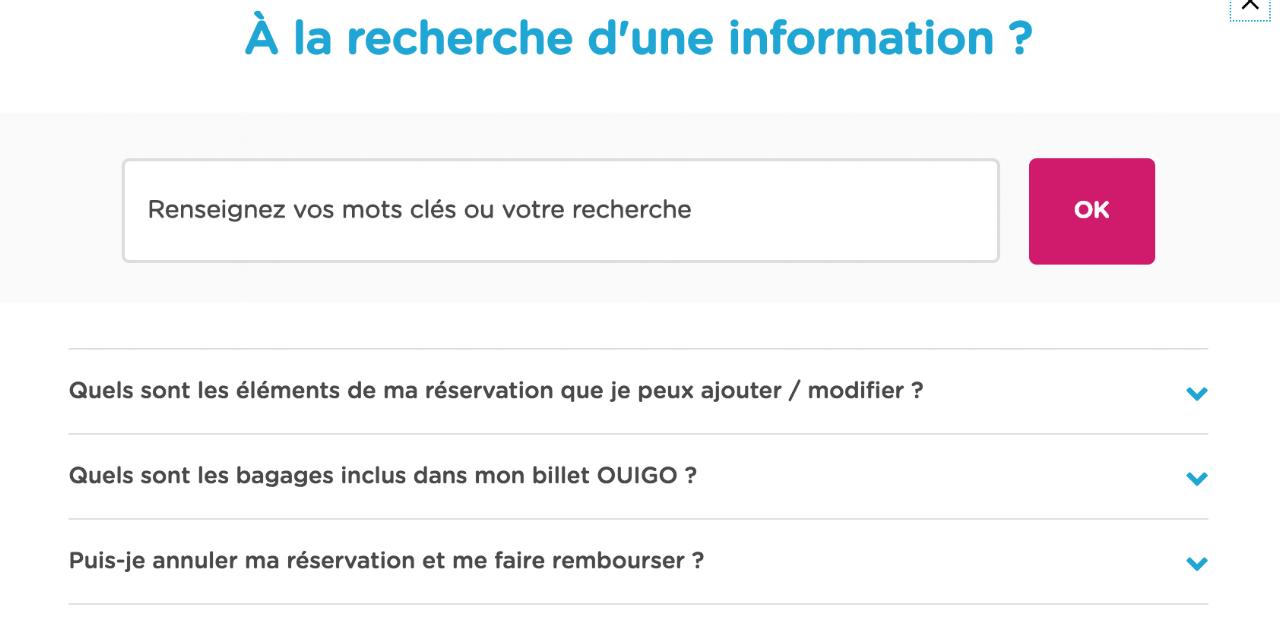 La helpbox peut rediriger le client vers une FAQ ou vers un interlocuteur humain